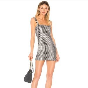Lovers + Friends checkered mini dress size small
